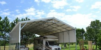 How to set up outdoor RV carport areas