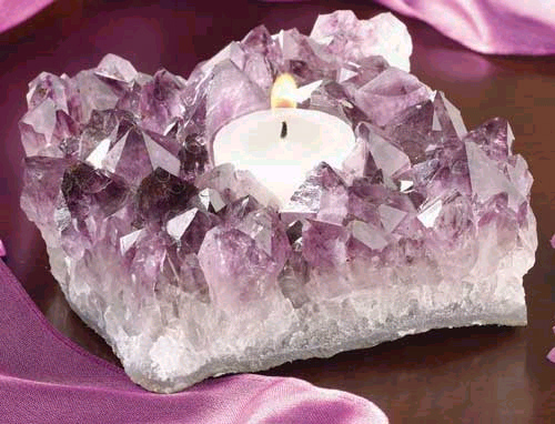 Amethyst 5 Best Natural Crystals as Candle Holders